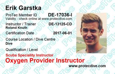 ProTec Oxygen Provider Instructor