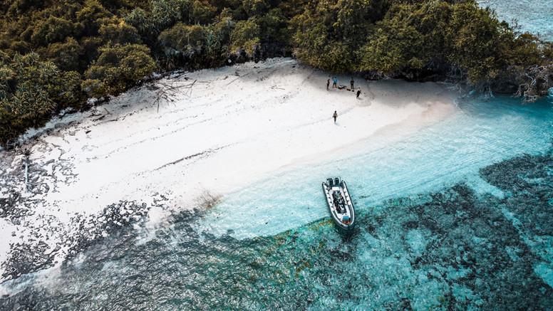 Drone view Beach
