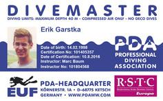 PDA Divemaster