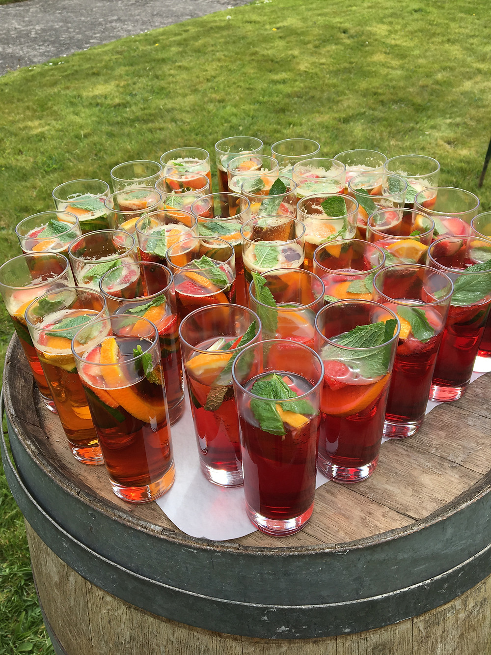 Wedding, Pimms and Lemonade, Cornwall, Cornish, Outside Catering, Events, Parties, Della Events.