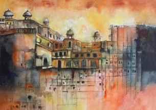 Pakistani Inspired Mixed Media Palace