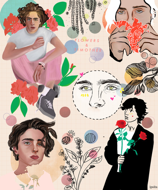 Timothee Chalamet and Flowers