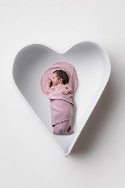 Newborn babyblanket pink