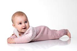 Star babysuit pink
