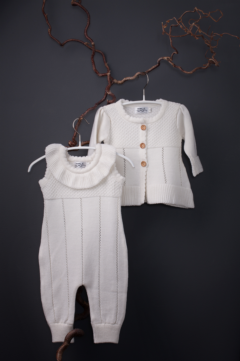 Annie cardigan and romper