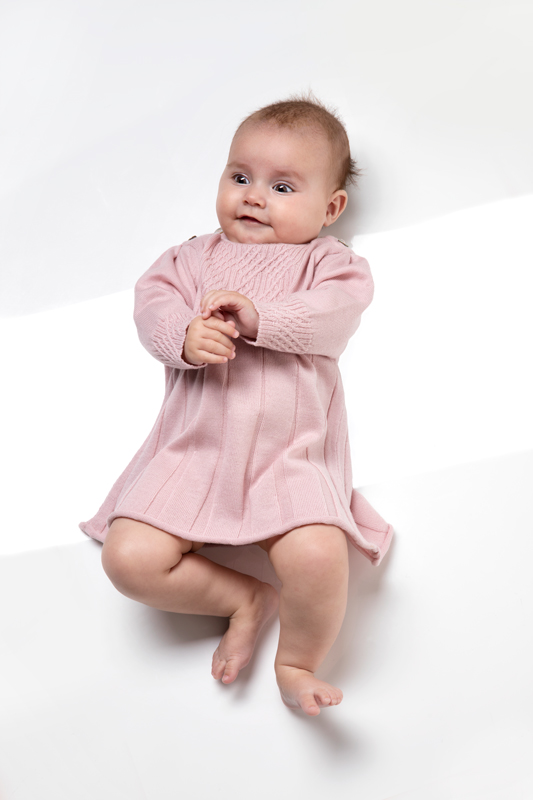 Saga baby dress pink