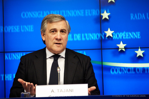Prima visita ufficiale del Presidente del Parlamento Europeo, Antonio Tajani, in Italia