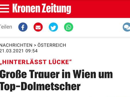 Große Trauer in Wien um Top-Dolmetscher