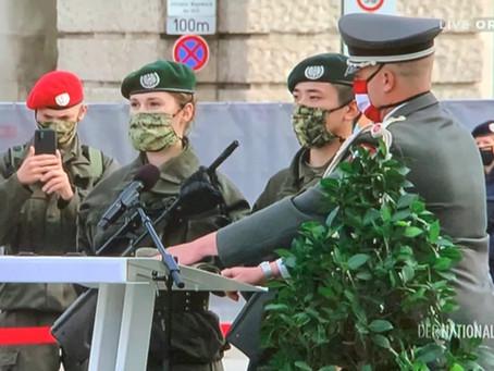 士兵代表冯保录踏着父亲的足迹