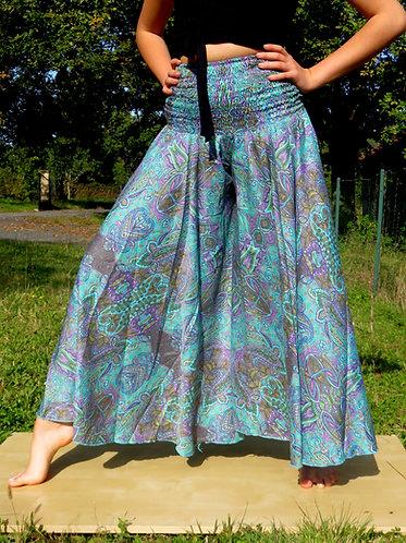 Pantalon Papillon Turquoise