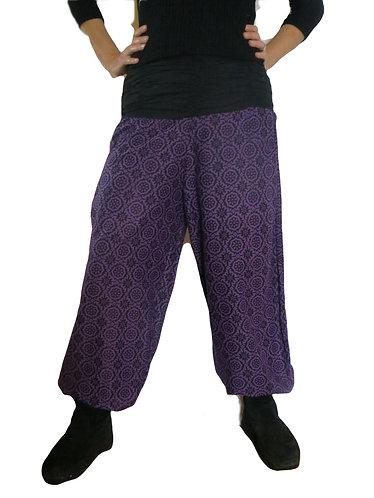 pantalon femme violet