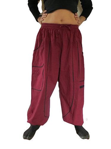 pantalon teufer bordeaux