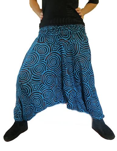 sarouel ethnique turquoise