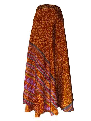 jupe hippie marron