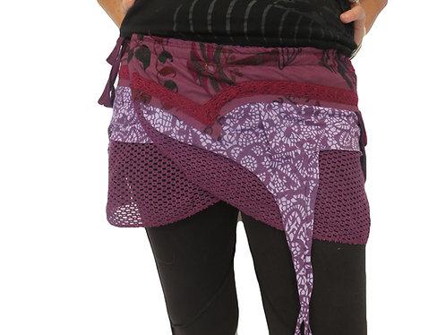 jupe hippie violet