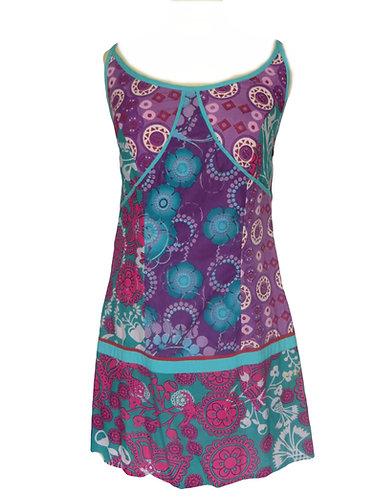 robe hippie violet turquoise