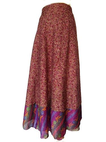 jupe ethnique violet