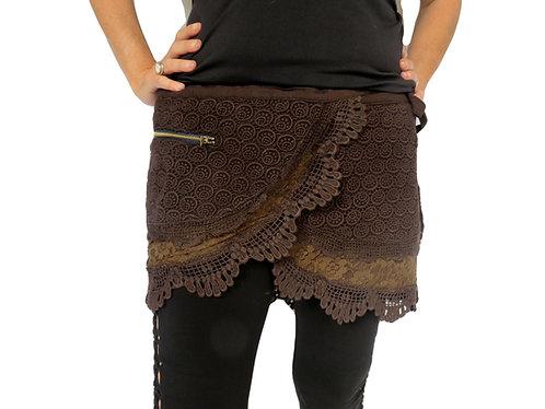 jupe ethnique marron