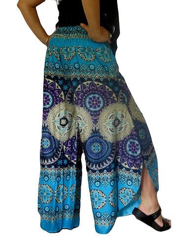 pantalon hippie bleue