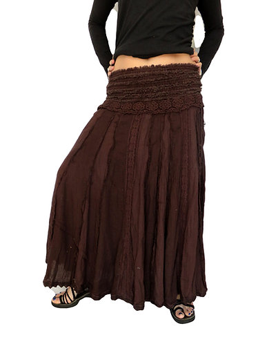 jupe hippie marron