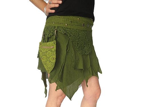jupe tribal verte