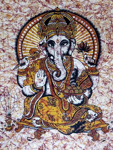 Tenture Ganesh Jaune
