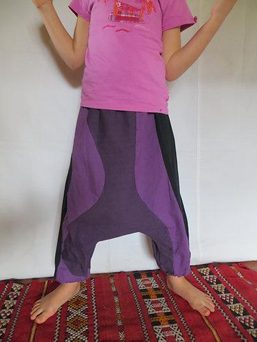 sarouel enfant violet