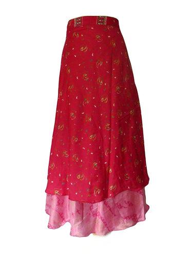 vetement hippie soie rose