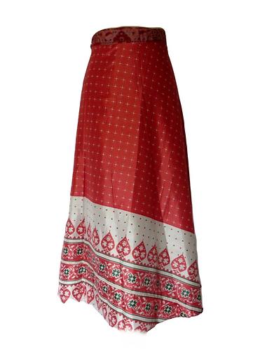 jupe soie ethnique rose
