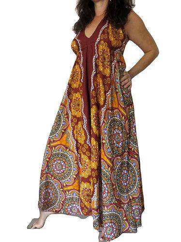 robe ethnique jaune