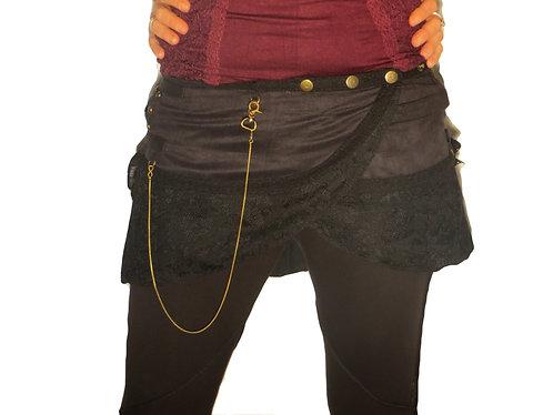 jupe tribal noire