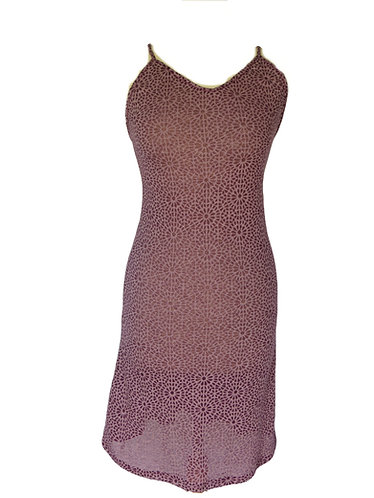 robe ethnique violet