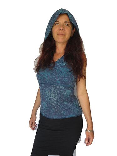 tunique ethnique femme bleue