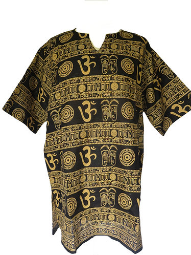 Chemise OM Noire Moutarde