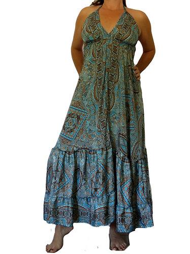 robe hippie bleue