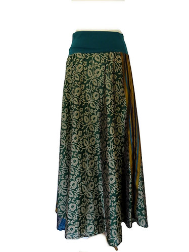 jupe ethnique vert