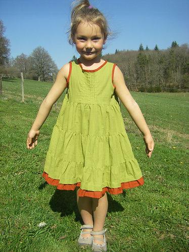 robe enfant vert