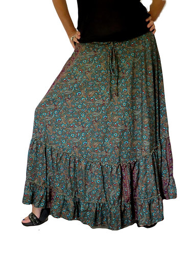 jupe hippie bleue