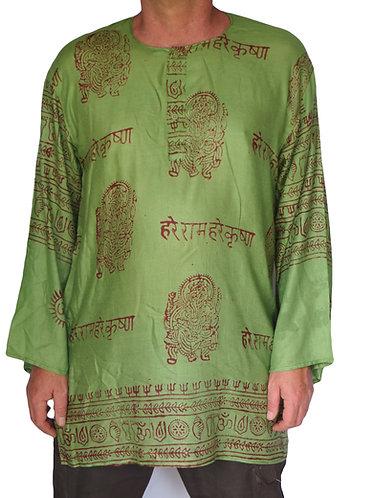 vetement hippie homme vert