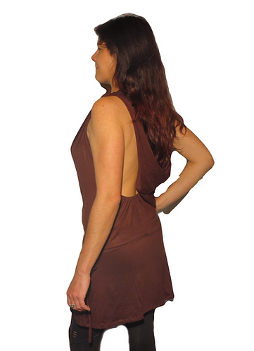 robe boheme marron