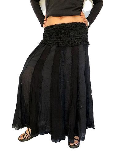 jupe hippie noire