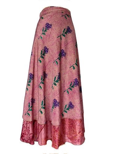 jupe ethnique rose