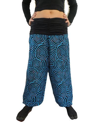 pantalon ethnique bleue