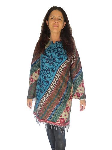robe ethnique laine