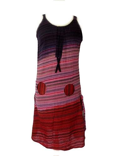 robe tie dye rouge