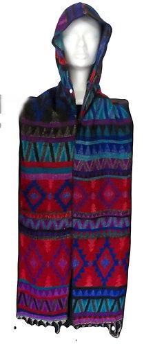 echarpe capuche laine