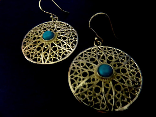 boucle d'oreille turquoise