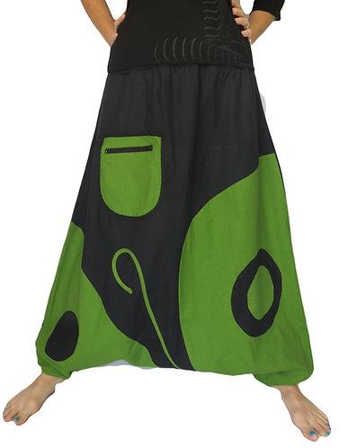 Sarouel Yogi Noir Vert