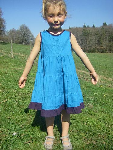Robe enfant turquoise