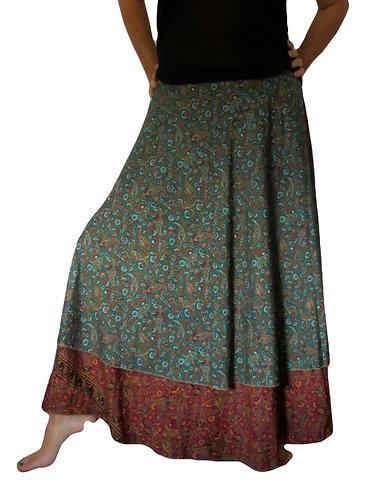 jupe ethnique bleue